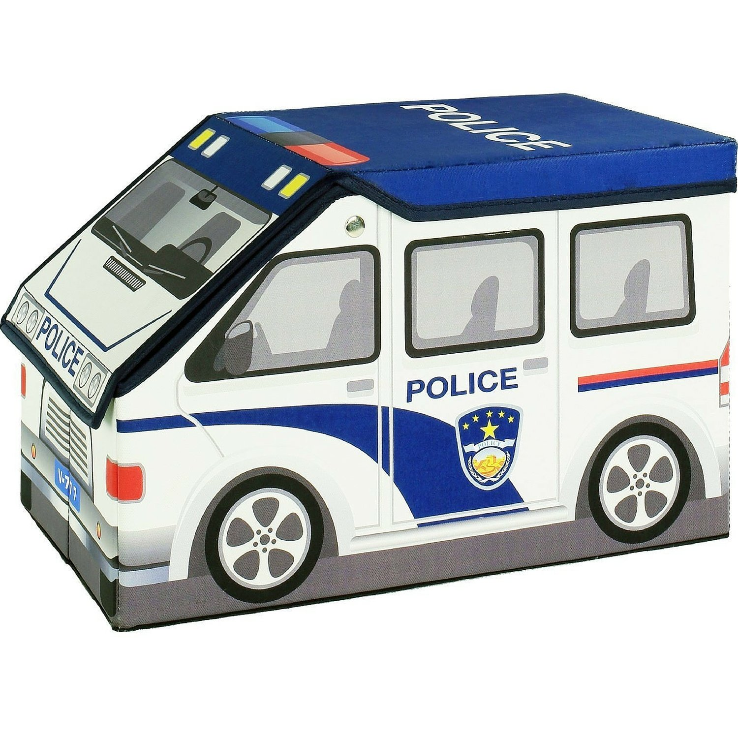 amazoncom 2 in 1 police car childrens toy and storage box with kids 3d puzzle of adventure ship toys games