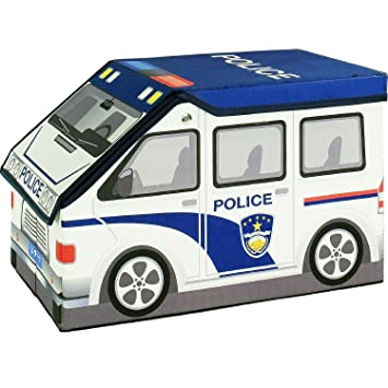 2 in 1 police car childrens toy and storage box with kids 3d puzzle