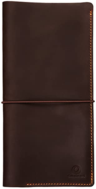 Amazon Com Genuines Long Leather Travel Wallet Boarding Pass
