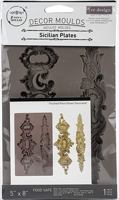 Glorious Garland ReDesign with Prima Moulds 5\u2033x 8\u2033 8 mm thickness