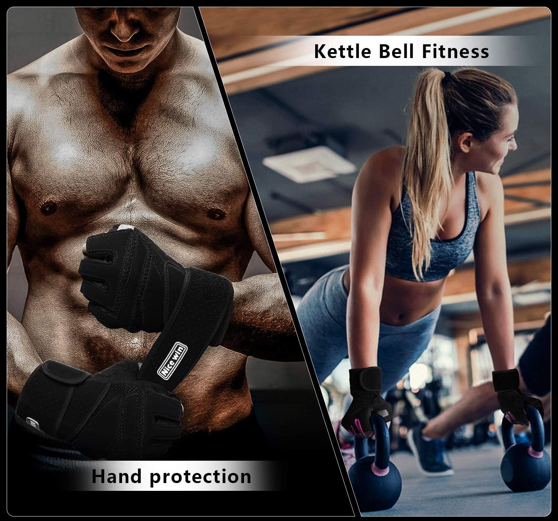 LOHOTEK Gants de Musculation Gants de Fitness Gants de Sport Rembourr/és Unisexe Gants de Travail avec Repose-Poignets pour Exercices de Remise en Forme Gym en Plein Air