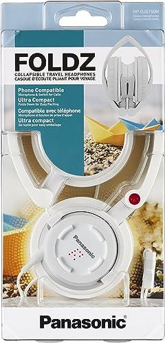 Panasonic FOLDZ On-Ear Stereo Headphones with Mic Controller RP-DJS150M-W White Integrated