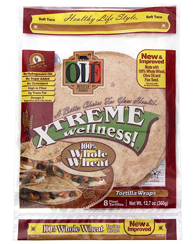 Amazon.com: Ole Xtreme Wellness Whole Wheat Wraps - 4 Pack Case - 8ct: Kitchen & Dining