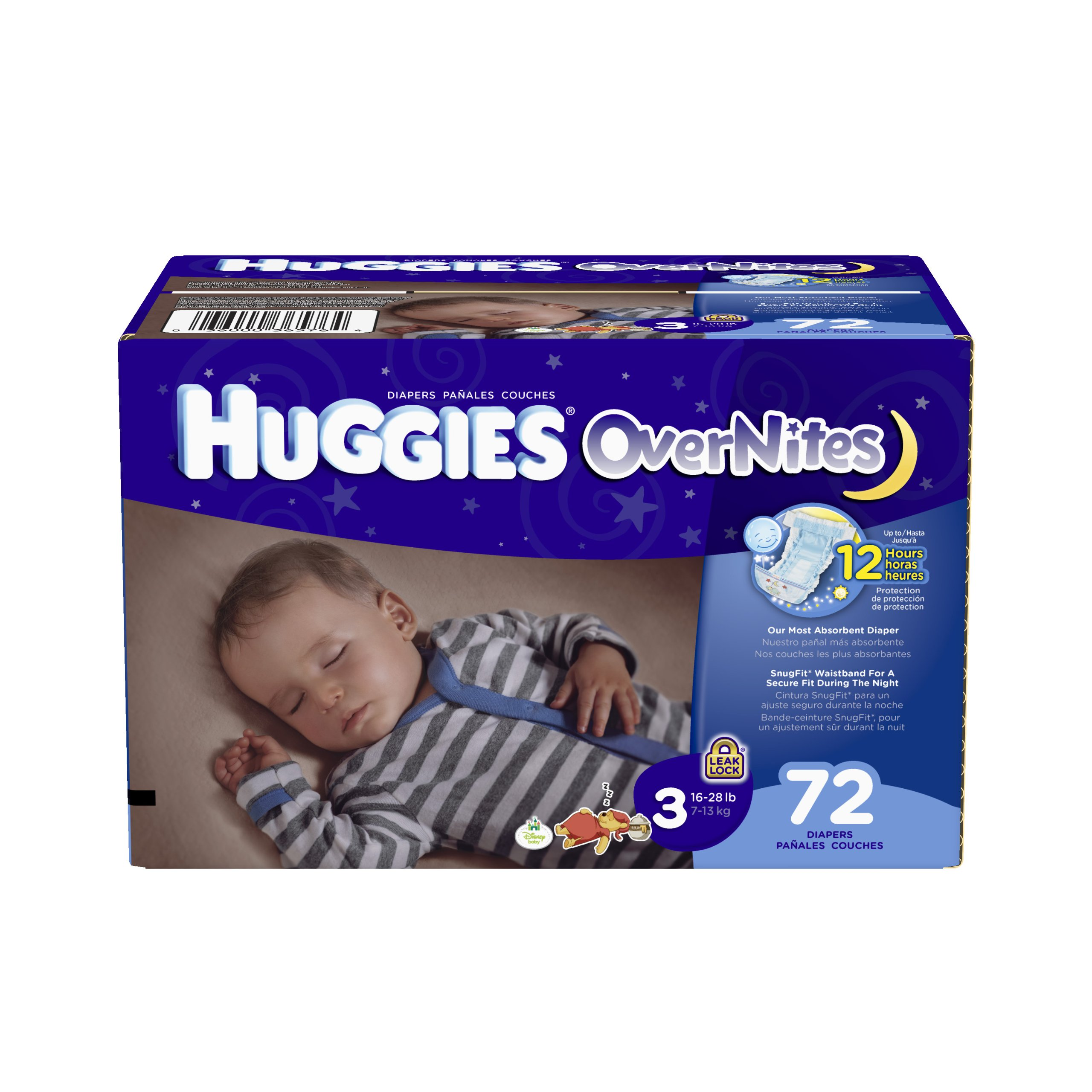 Huggies OverNites Diapers, Size 3, Big Pack, 72 Count by HUGGIES