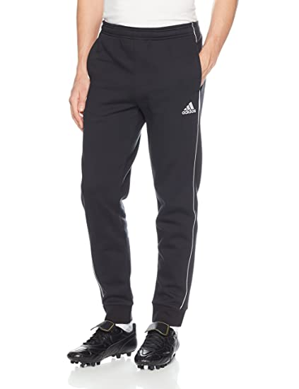 newest 8368a a60a4 adidas Men s Soccer Core 18 Sweat Pants, Black White, X-Small