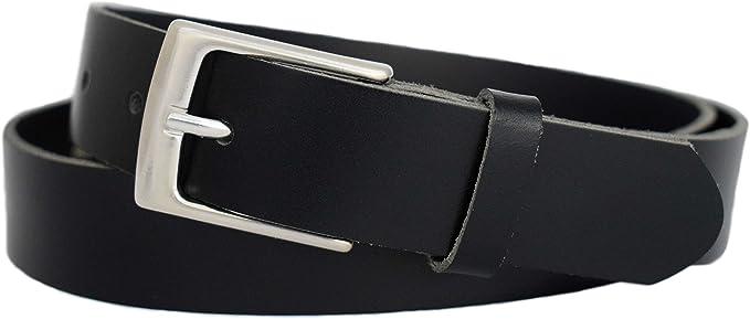 3cm breiter Herren Damen Gürtel aus Rindleder Echt Ledergürtel für Anzug Jeans