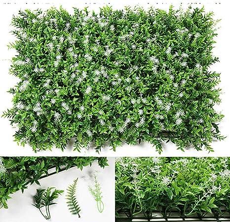 Flower Setos Artificiales, Boj, Enredaderas De Hoja Perenne, Cerco De Privacidad De Hiedra, Decoración De La Pared Exterior del Jardín del Hogar (Color : Green): Amazon.es: Hogar