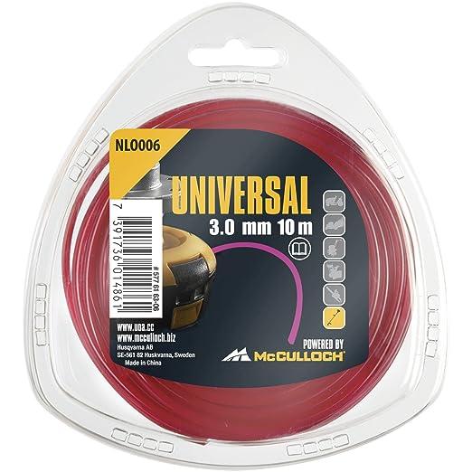 McCulloch 00057-76.163.06 Hilo de nylon redondo 3mm x 10m ...