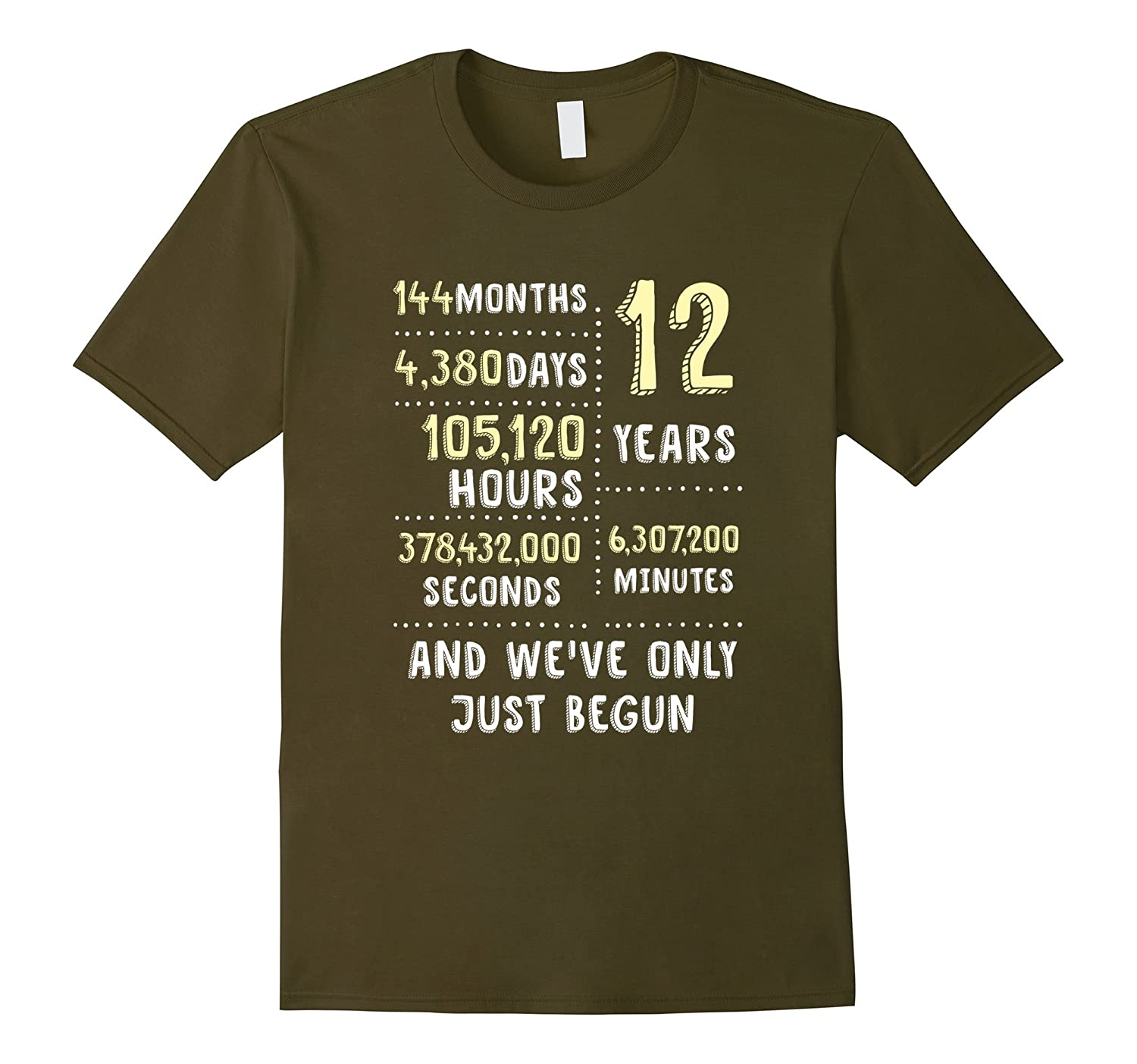 12 Years Anniversary Apparel Cute Gift Shirt for Her or Him-Art