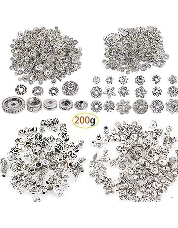 100pcs Perles Coupelles Calotte Acier inoxydable Accessoires Création DIY 6mm