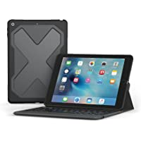 Zagg – Rugged Messenger – Funda con retroiluminación y teclado bluetooth – 2017 compatible con Apple iPad 24,6 cm – durable Protector de visualización – soporte integrado – multiple-device Pairing – Negro