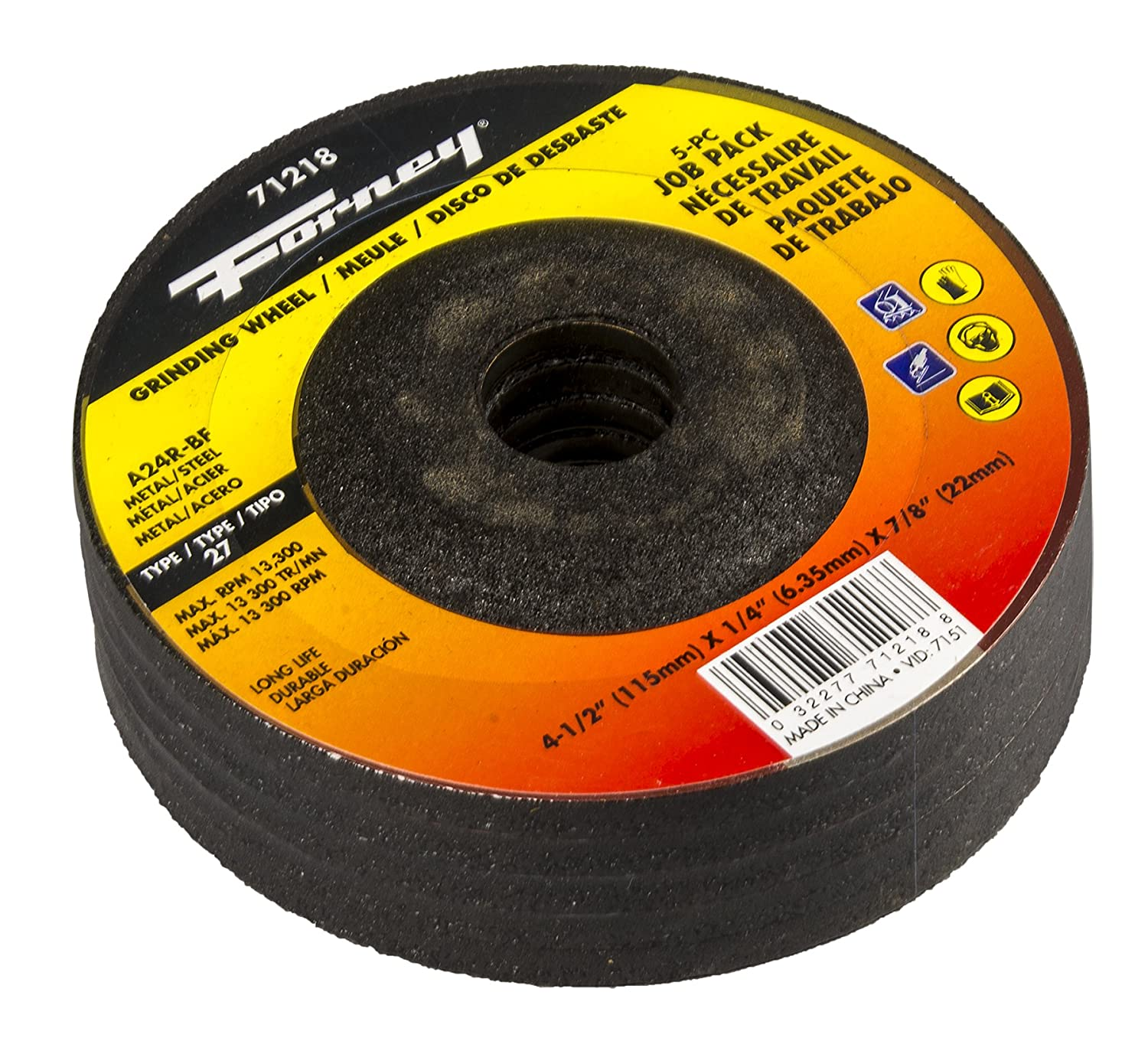 5 Pack Forney 71218 Cut-Off Wheels
