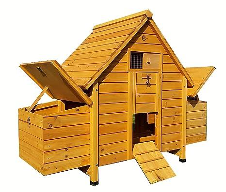 Cocoon CC6002N - Gallinero con 4 cajas nido y bandeja de limpieza para 4 aves estándar