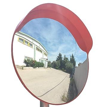 Diametro 60 cm, Staffa di Fissaggio Parete Magazzini SNS SAFETY LTD Specchio Convesso di Sicurezza da Traffico Elimina Angoli Ciechi Interni ed Esterni Garage e Negozi. per Strade