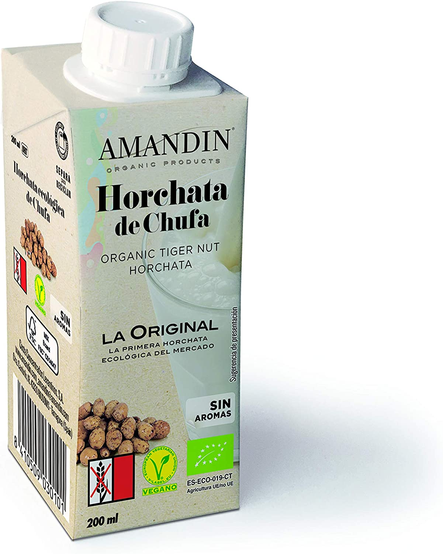 AMANDIN Horchata Ecológica De Chufa 200ml - Pack de 24 x 200ml ...