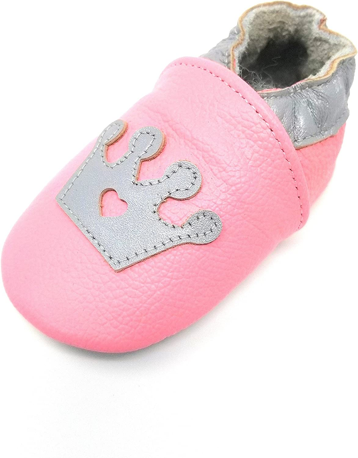 ❤️Rolayllove❤️ Baby Girl Moccasins Princess Sparkly Premium Lightweight Soft Sole Toddler Girl Sandals Shoes 12M-12Years
