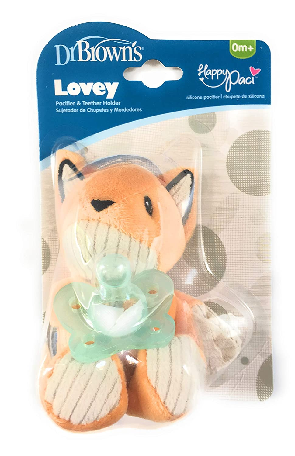 Amazon.com: DR. BROWNS Lovey PACIFIER & TEETHER HOLDER & COTTON ...