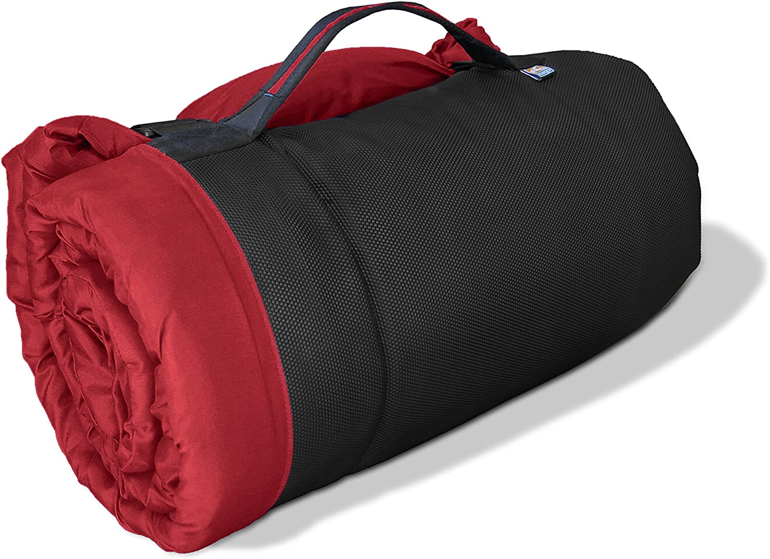 Kurgo Waterproof Dog Bed Outdoor Bed for Dogs Portable Bed Roll for Pets Travel Hiking Camping Wander Loft Dog Bed Chili Red Medium