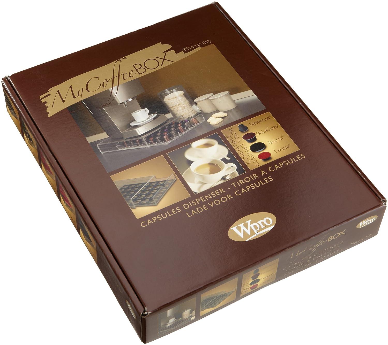 Wpro MyCoffeeBox - Dispensador de cápsulas para cafeteras monodosis: Amazon.es: Hogar