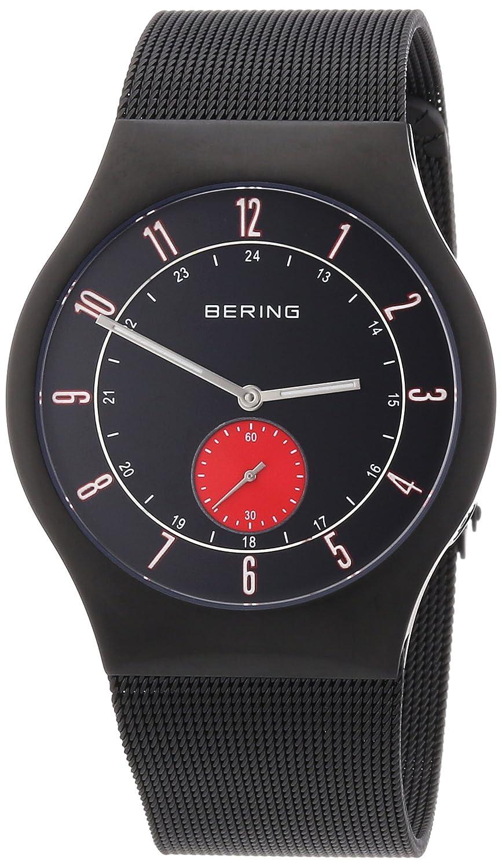 Bering Time Herren-Armbanduhr XL Radio-Controlled Analog Edelstahl beschichtet 51940-229