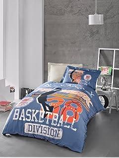San Francisco Fast Break Basketball Bedding Set, Quilt/Duvet Cover Set, 100%