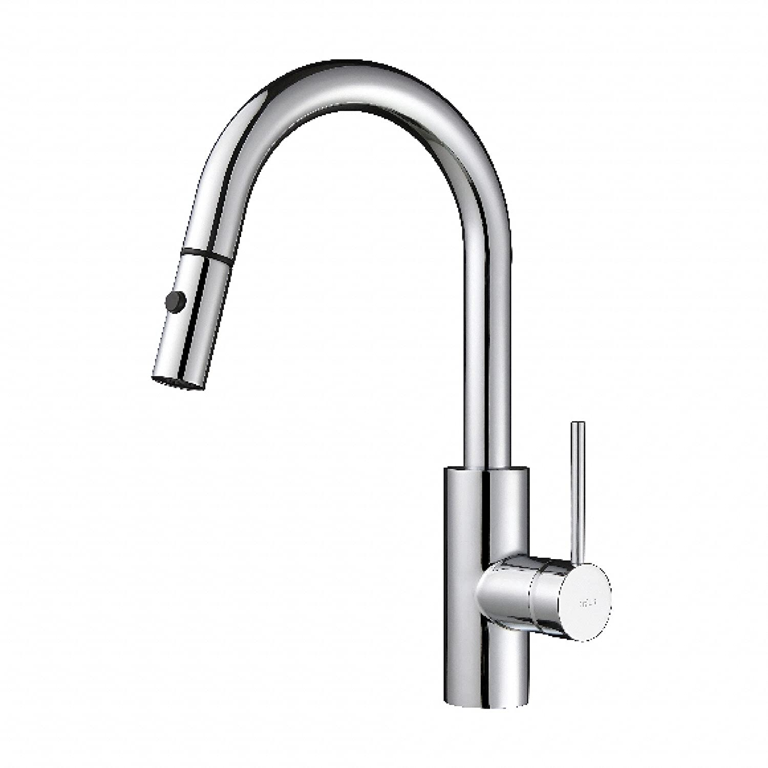 kraus kpf 2620ch modern oletto single lever pull down kitchen kraus kpf 2620ch modern oletto single lever pull down kitchen faucet chrome amazon com