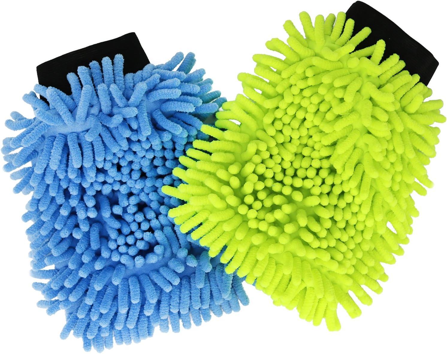 06-piece - Car wash set com-four/® 6-piece car wash set with washing gloves and microfibre cloth for car care