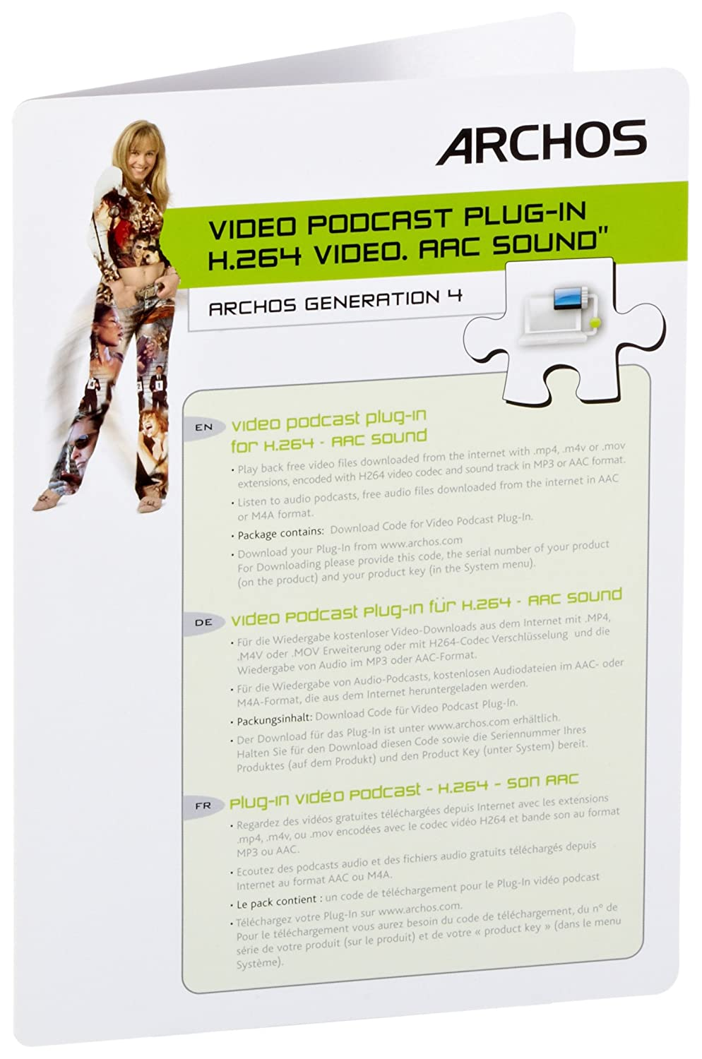 VIDEO ARCHOS H.264 PLUG-IN AUDIO AAC PODCAST TÉLÉCHARGER