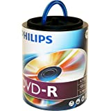 Philips DM4S6H00F/17 4.7GB 16X DVD-R Recordable Video Discs (Pack of 100)