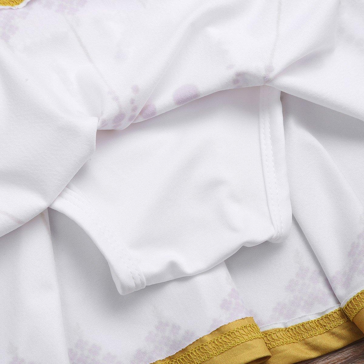 dPois Kids Girls One-Piece Camisole Swimming Dress Summer Beach Swimsuit Swimwear Bathing Suit