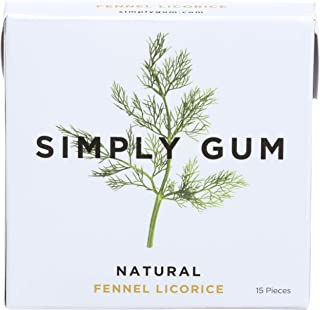 product image for Simplygum Fennel Natural Gum, 15 ct