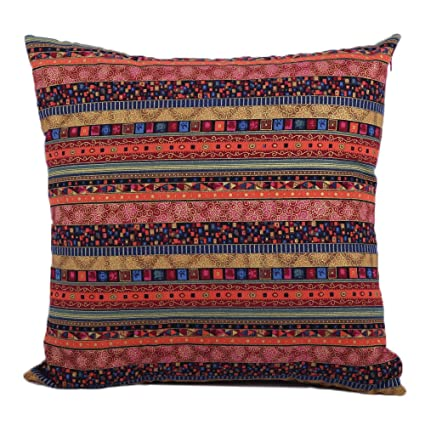 Amazon Jahosin Decorative Bohemian Style Cushion Cover Throw Beauteous Red Decorative Pillows For Bed