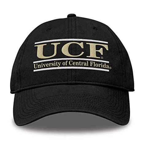 new concept ae5ab 3c59c The Game NCAA Central Florida Golden Knights Bar Design Twill Hat, Black,  Adjustable