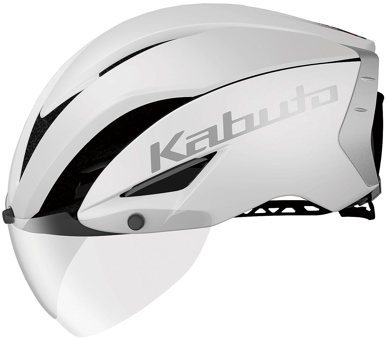 OGK KABUTO(オージーケーカブト) ヘルメット ヘルメット AERO-R1 マットホワイト-1 L/XL (頭囲 59cm~61cm)  B01MZAN2OC