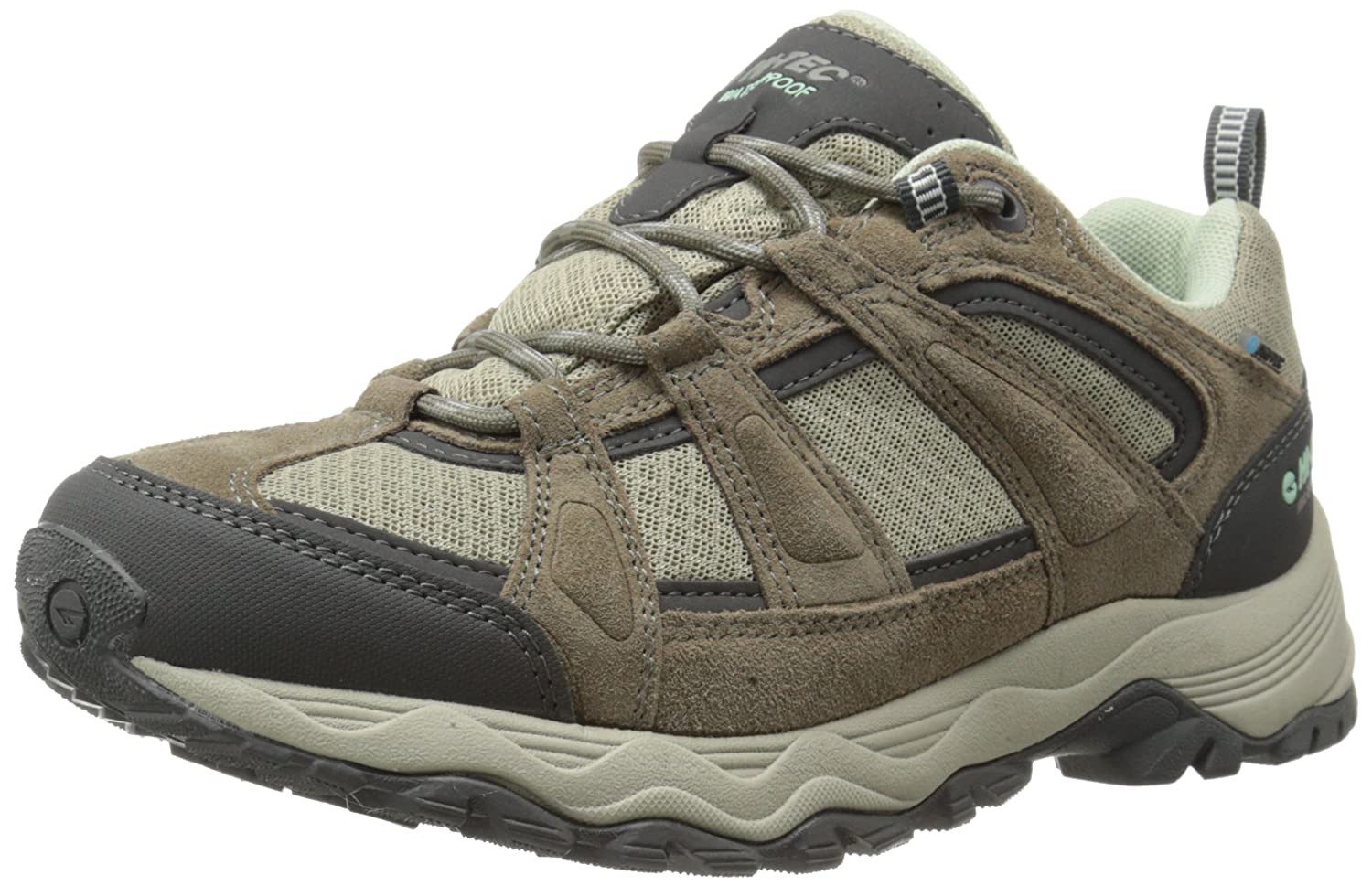 Hi-Tec Women's Perpetua Low Waterproof Hiking Shoe B00LIP786K 8 B(M) US|Taupe/Mint