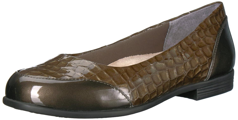 Trotters Women's Arnello Ballet Flat B01MQXXX0U 7 B(M) US|Grey Crocodile