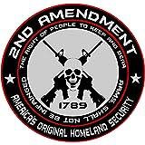 2nd Amendment - America's Original Homeland Security Round Bumper Sticker Decal (5 Inch)