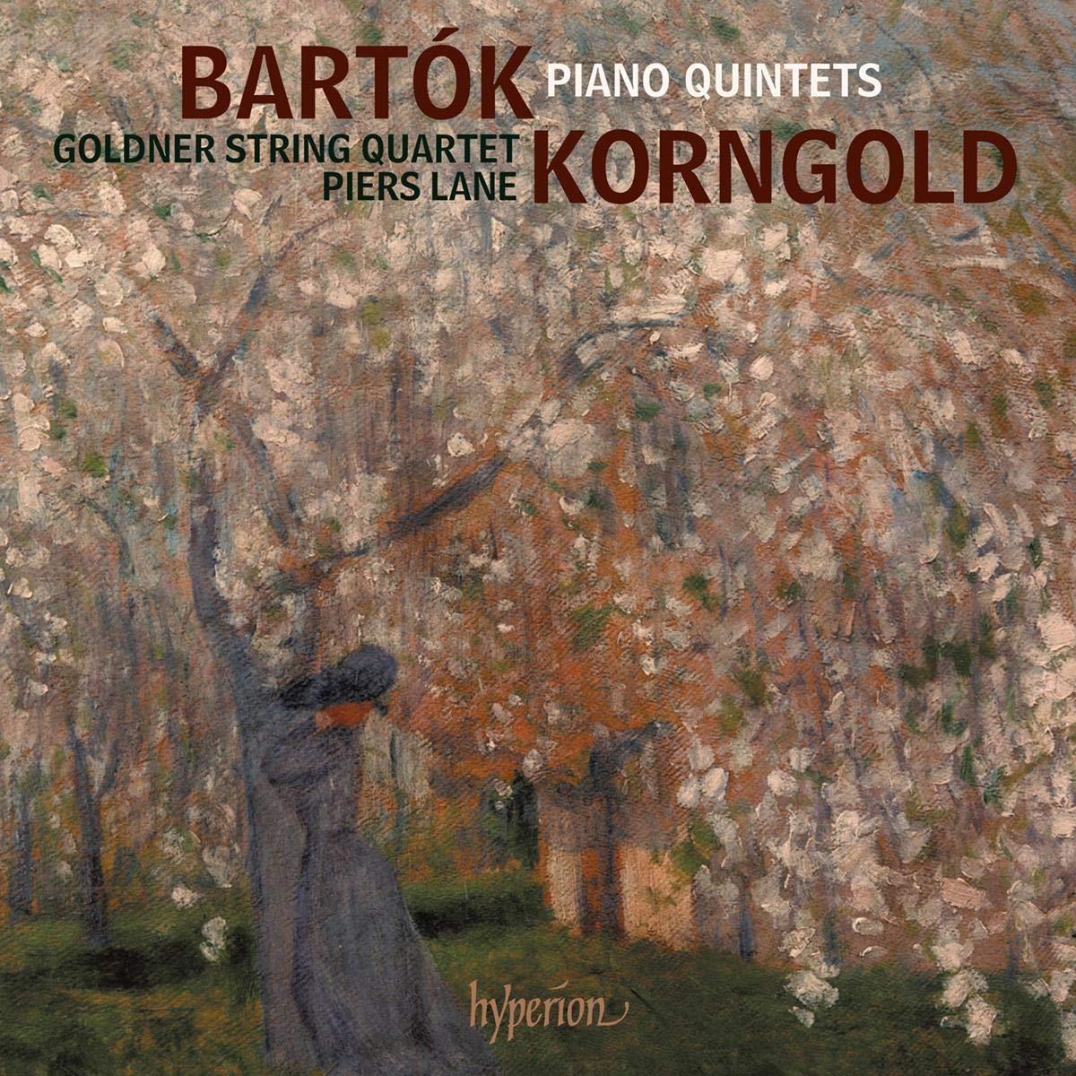 Bartók, Korngold : Quintettes pour piano. Lane, Quatuor Goldner ...