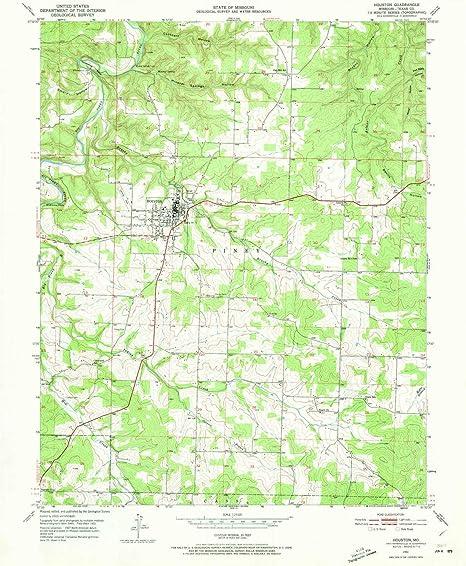 Amazon Com Yellowmaps Houston Mo Topo Map 1 24000 Scale 7 5 X