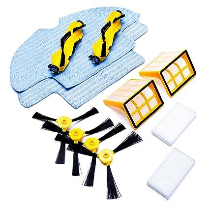 Eventer parte accesorios incluidos 4 pcs filtro HEPA cepillo lateral, 2 pcs, 2 pcs