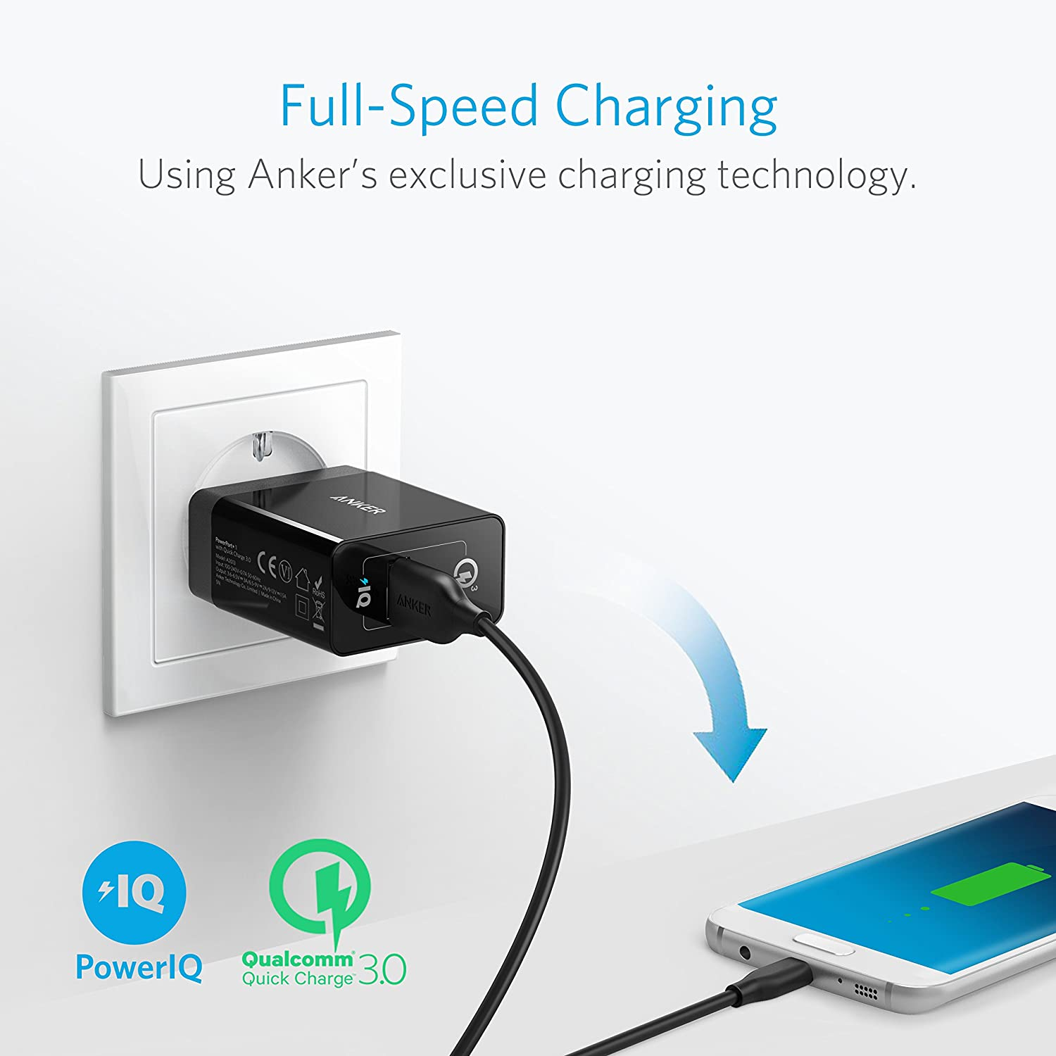 Qc 30 Chargeur Usb Secteur 18w Quick Charge Anker Powerport 1 Sony Xperia Neo L Circuit Diagram High Tech