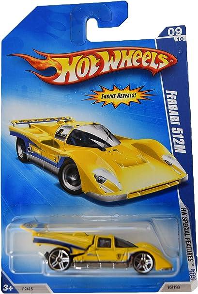 Amazon Com Hot Wheels Ferrari 512m 95 190 Yellow Toys Games