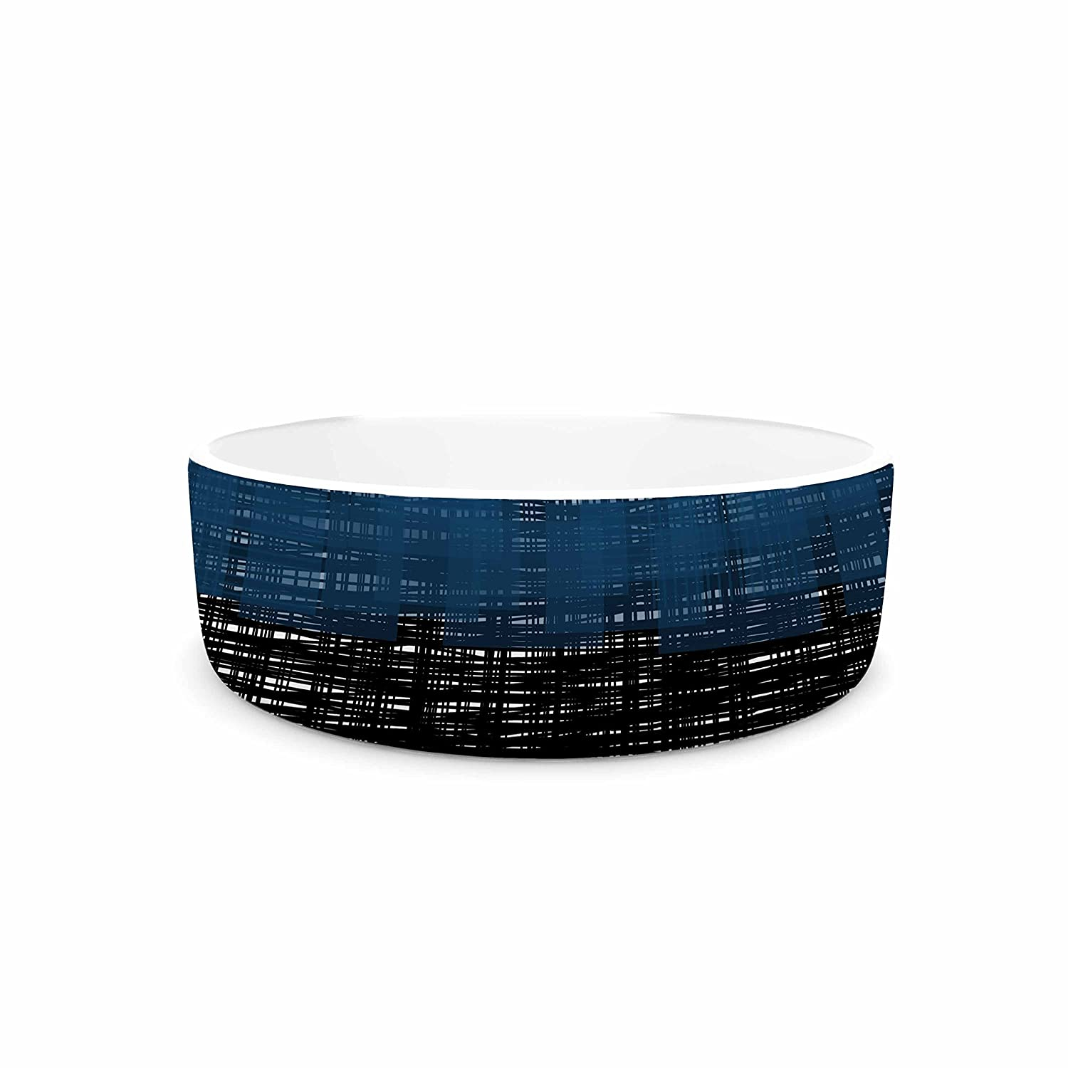 KESS InHouse Trebam Platno bluee Black Pet Bowl, 7