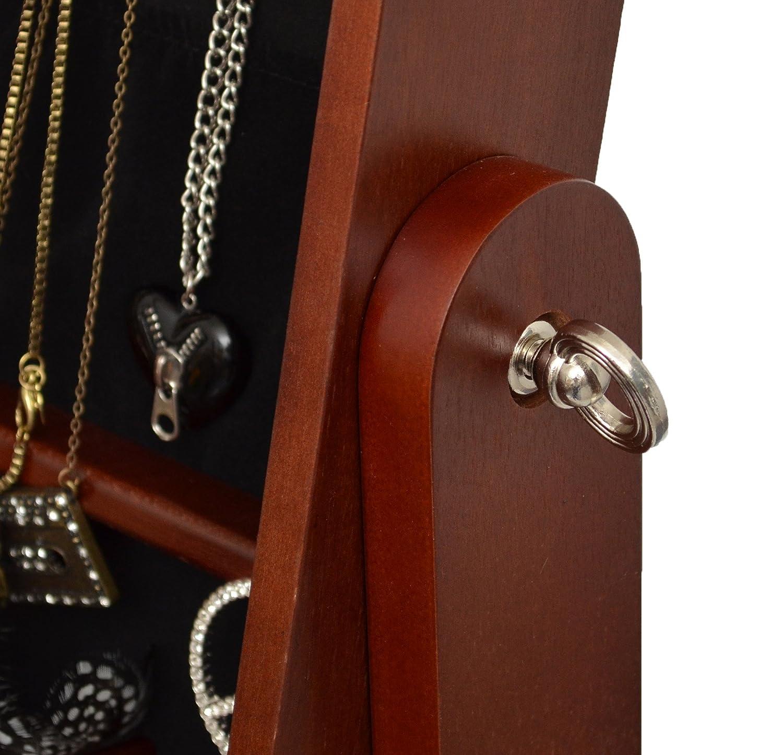 Armadio a specchio con interno portagioie e cassetti portaoggetti ...