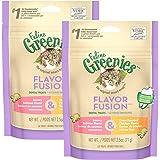 FELINE GREENIES Dental Cat Treats, Chicken & Salmon, 5 oz.