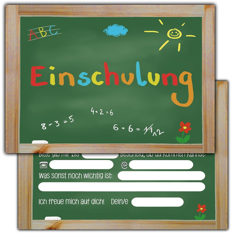 42 Einladungskarten zur Einschulung // Schulanfang Einladungen ... - Schulanfang Einladungskarten