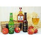 Classic Cornish Cider Treats Hamper In A Black Gift Box