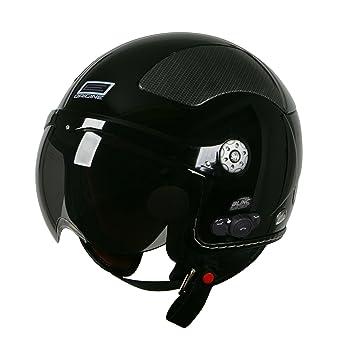 Origine O528B Pilota 3/4 Helmet with Blinc Bluetooth (Black, Small)