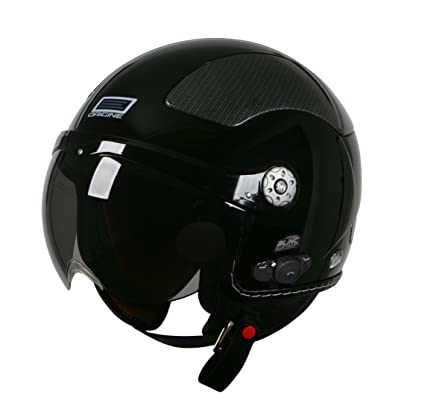 Origine O528B Pilota 3/4 Helmet with Blinc Bluetooth (Black, Medium)