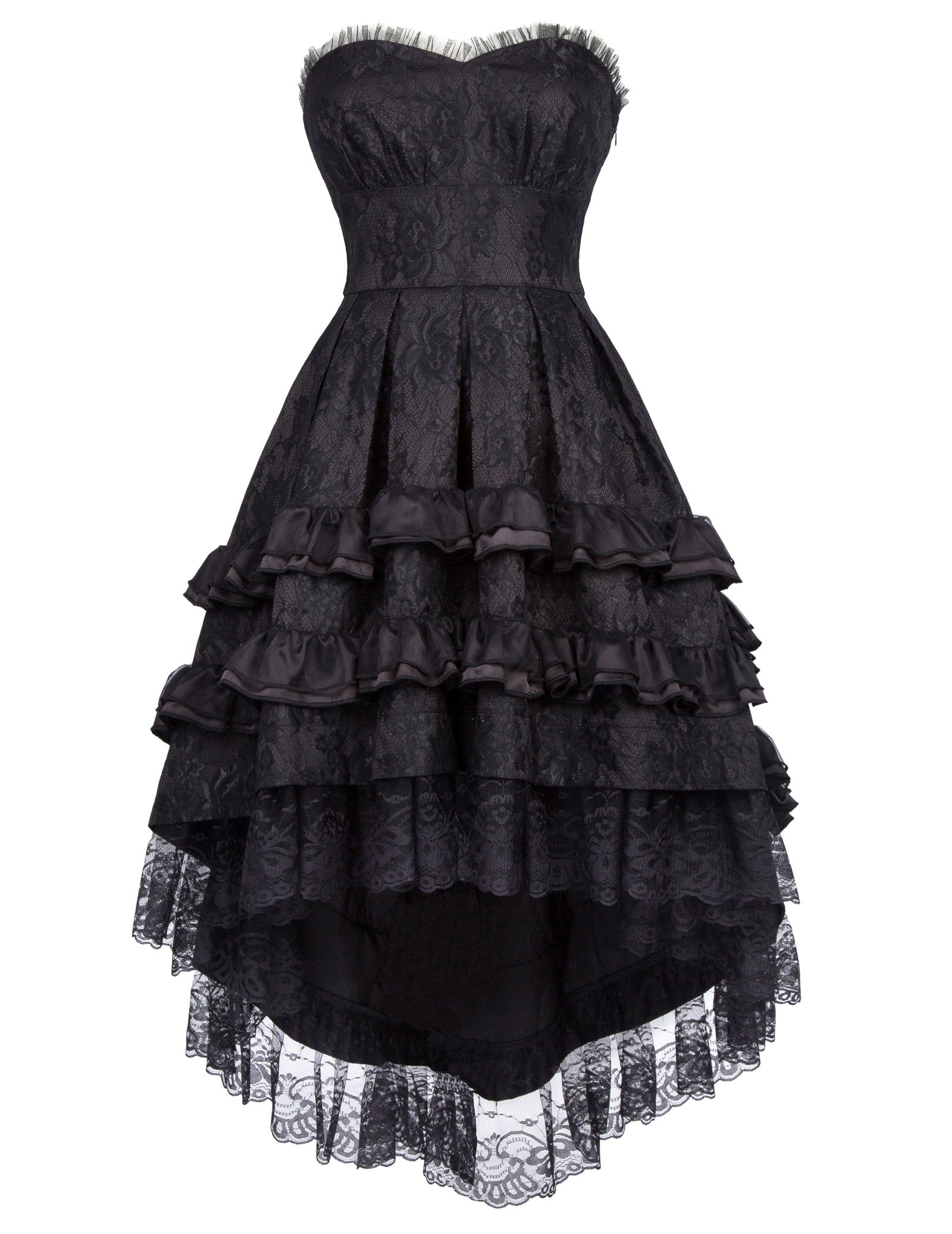 Belle Poque Steampunk Gothic Victorian Strapless Swallow Tail Dovetail Dress BP000346 3